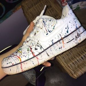 painted air force 1's